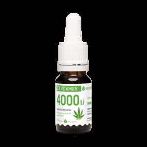 D3-vitamiini, 100mcg tippa, 10ml