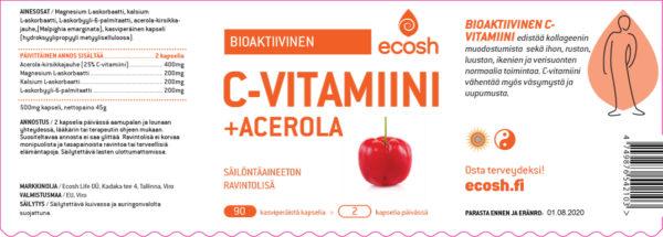 C-vitamiini-acerola